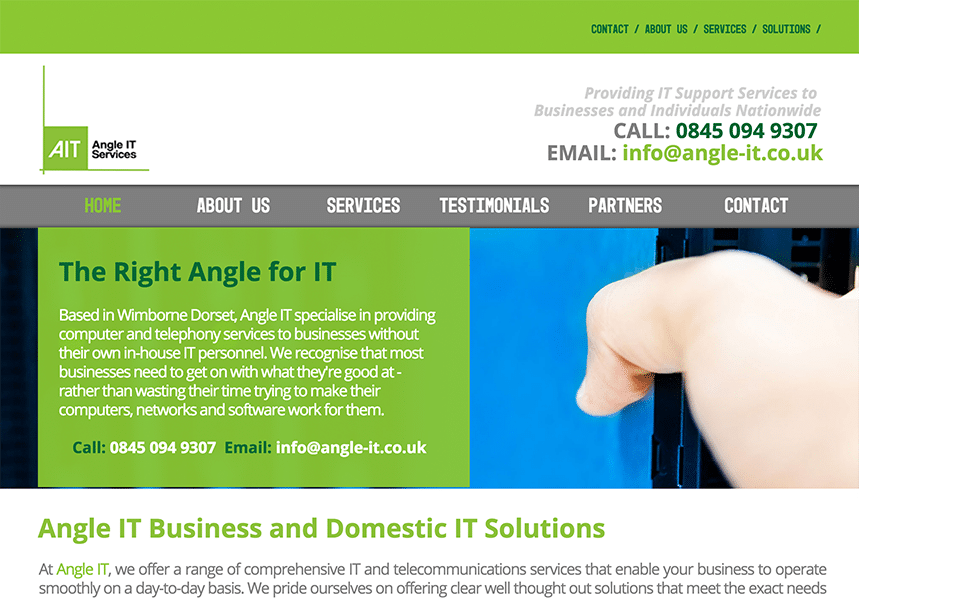 Angle IT Homepage Image